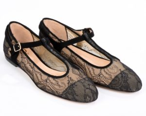 """summer flat shoes with lace mesh - model """"Polly"""""""