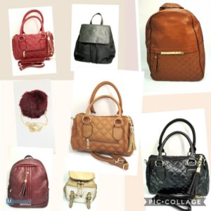 Stock of handbags for women