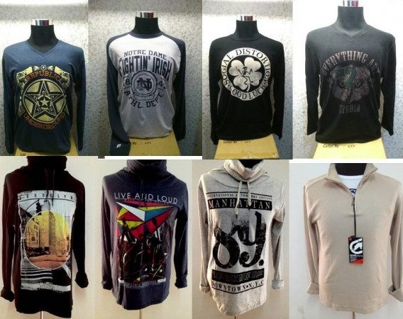 European and American brands printed long sleeve T-shirts for men