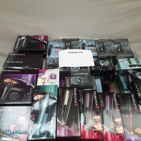 Wholesale of used Remington hair styling products
